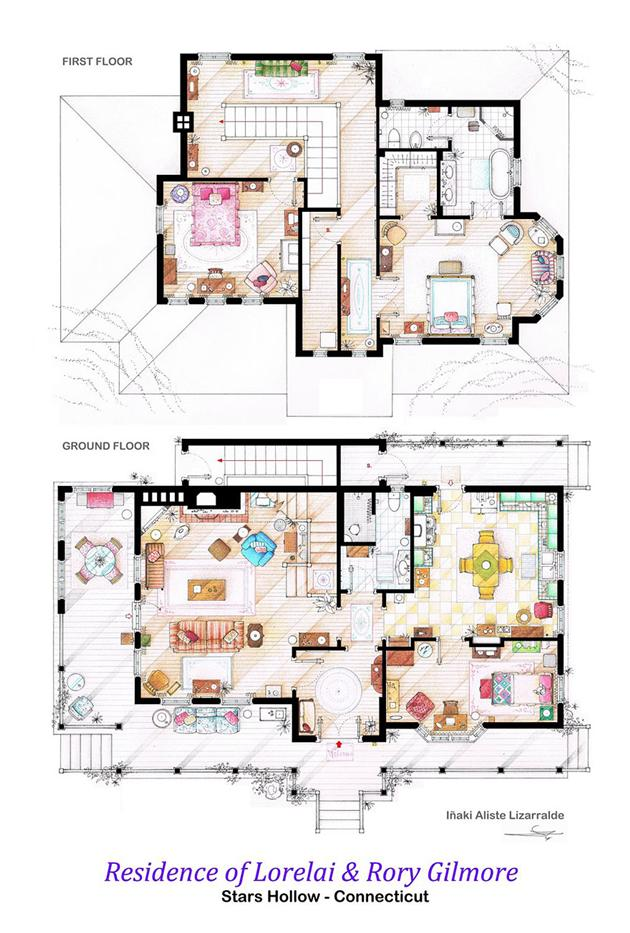 Gilmore girls floor plan