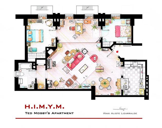How I meet your mother floor plan