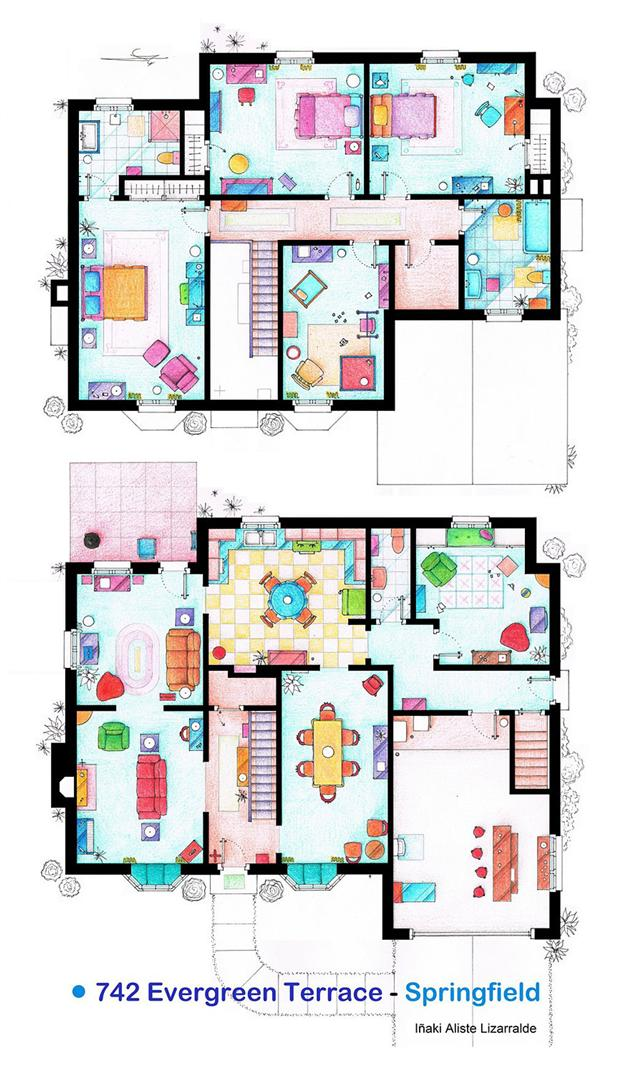 Simpsons floor plan