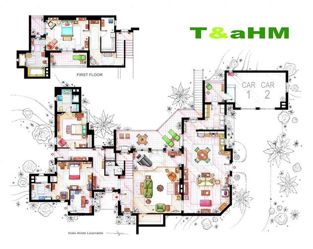 Two and a half man floor plan