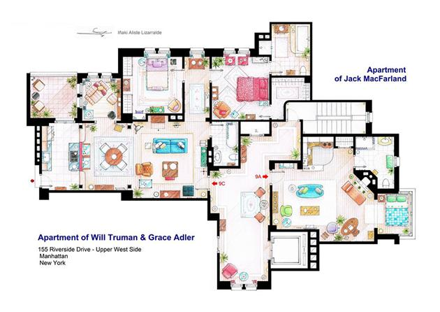 Will and grace floor plan