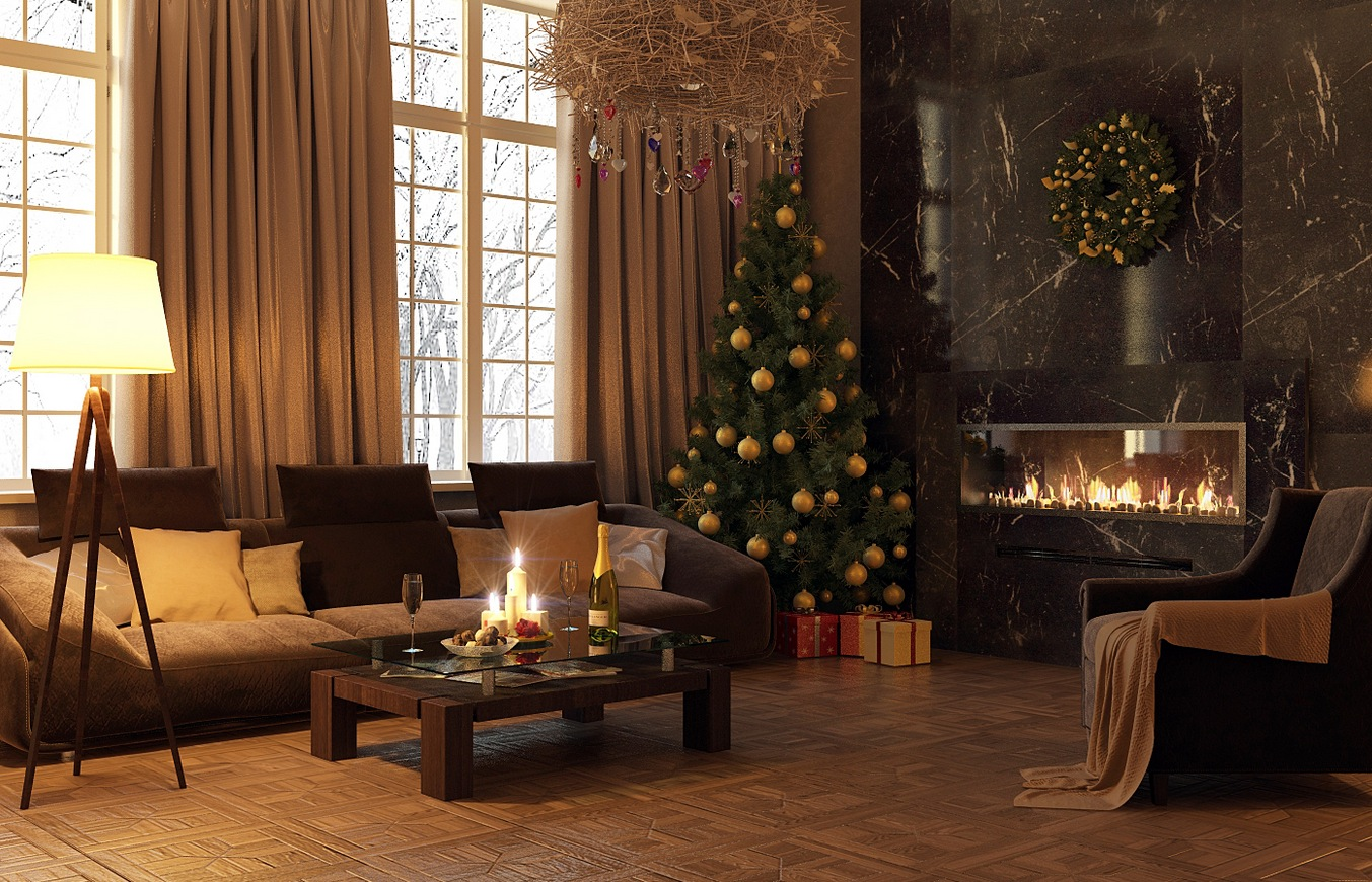 contemporary-christmas-living-room