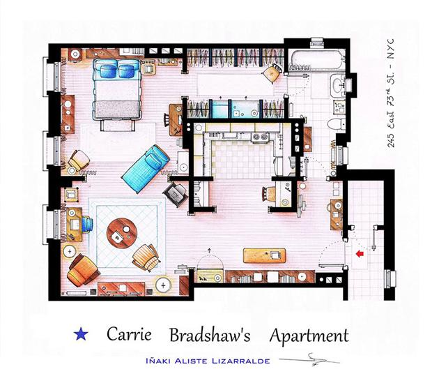sexnthecity floor plan