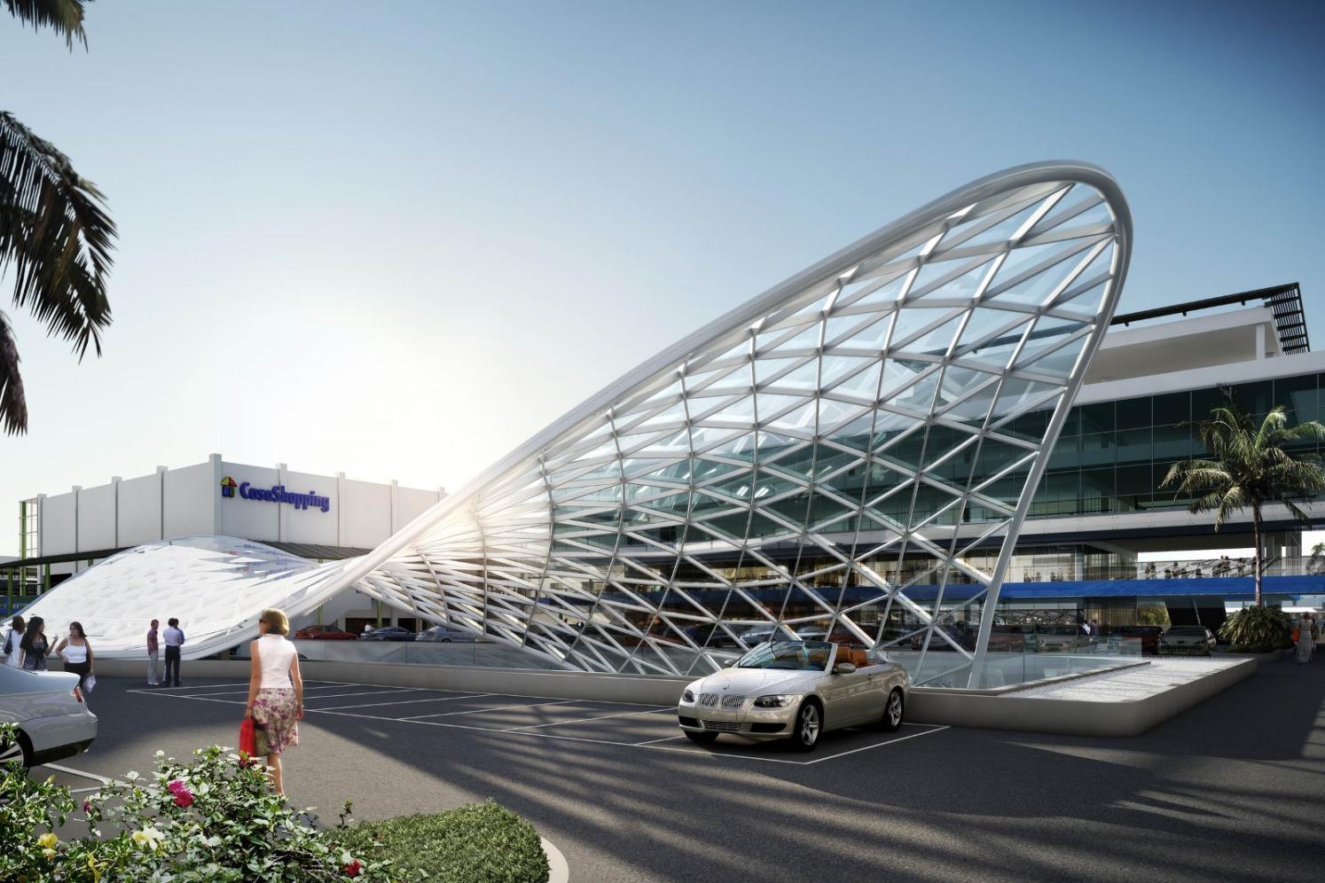 Cobertura metálica arquitetura