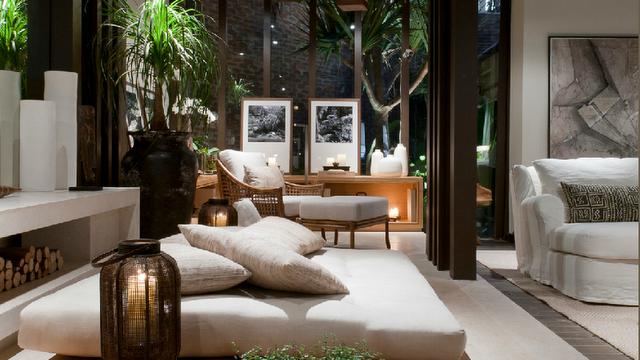 Decoração casa futon