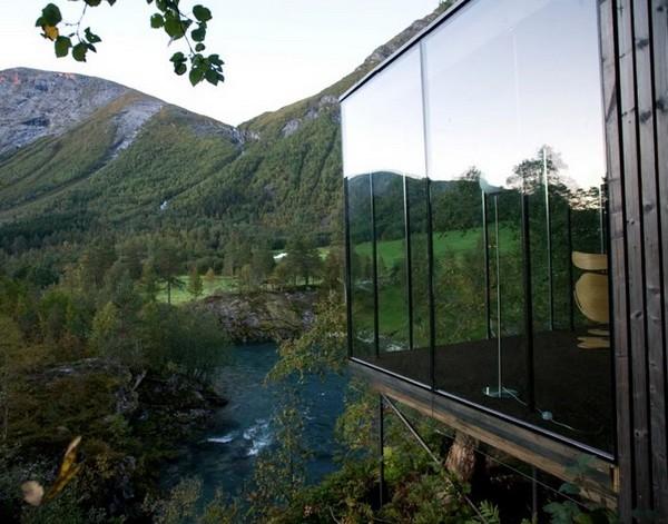 Hotel na Noruega com arquitetura peculiar 1
