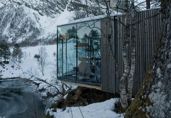 Hotel na Noruega com arquitetura peculiar 12