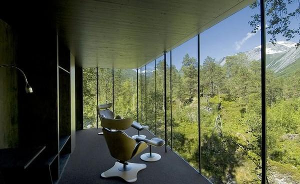 Hotel na Noruega com arquitetura peculiar 9