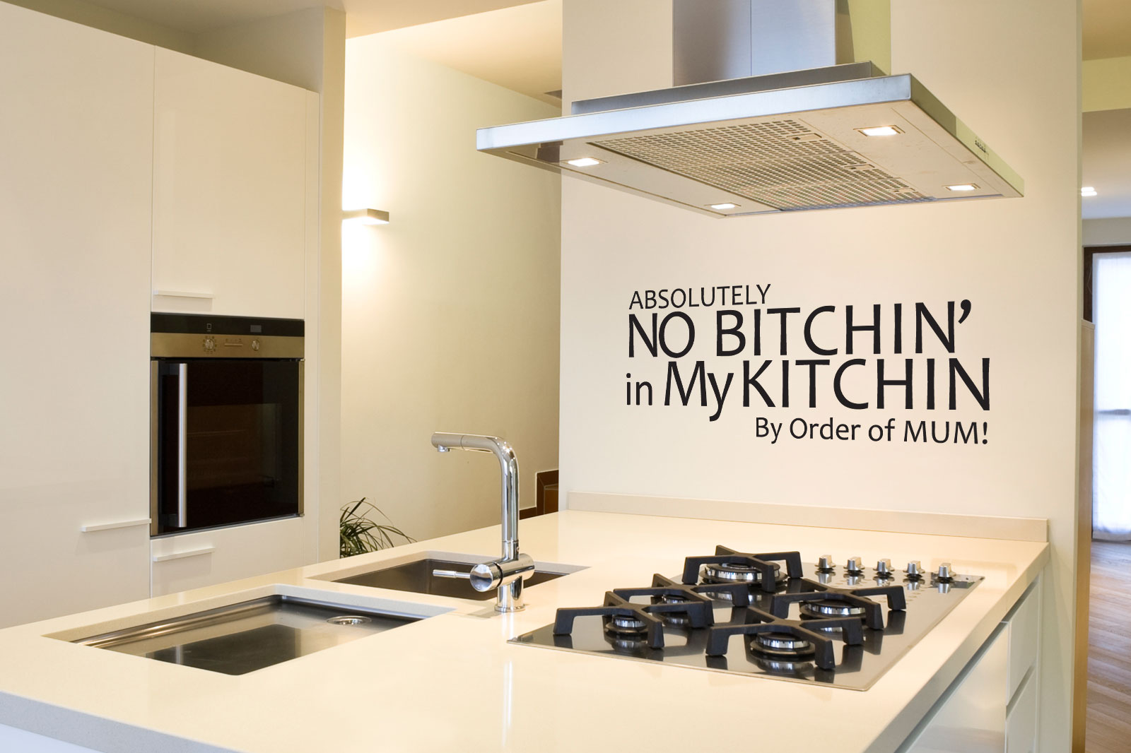 funny kitchen wall quotes quotesgram On kitchen cabinets quote
