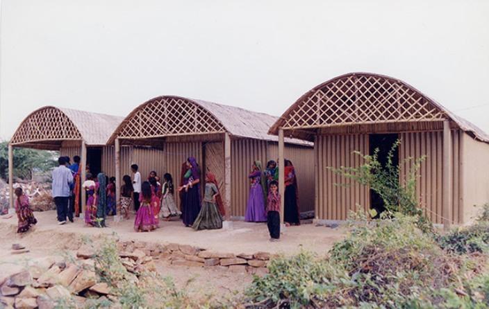 Paper Log House, Bhuj, India, 2001