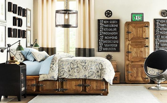 Lindos quartos no estilo industrial for Accessori camera ragazza