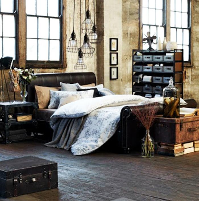 Lindos quartos no estilo industrial - Style industriel chic ...
