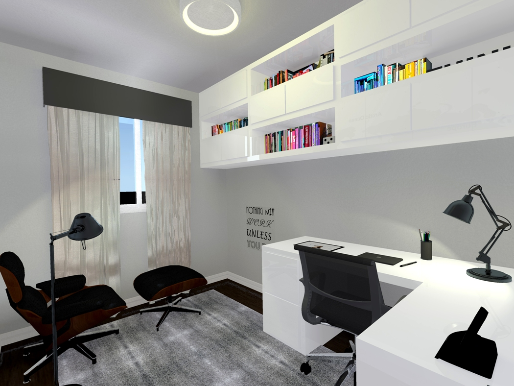 ARQUITETA INDAIATUBA - DIANA BROOKS - APARTAMENTO PLACE VIEW DECORADO - HOME OFFICE