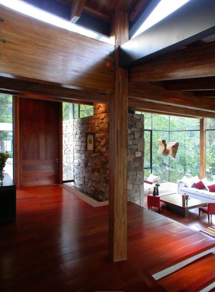 Interior da casa integrado