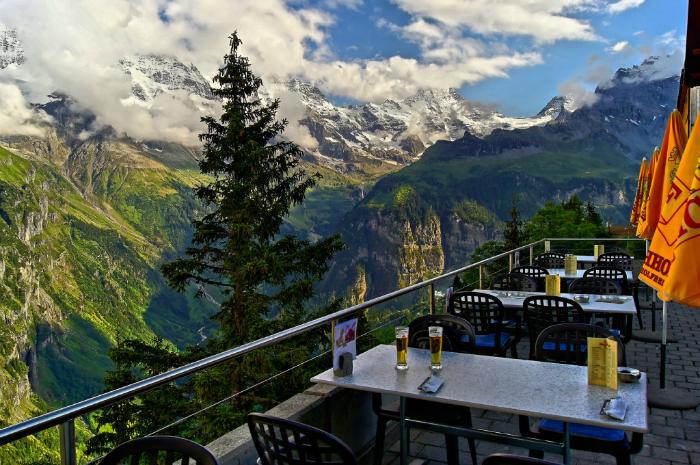 Hotel Edelweis em Mürren, Suíça