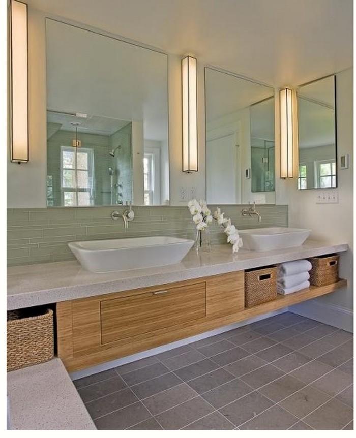 Iluminação de espelho de banheiro