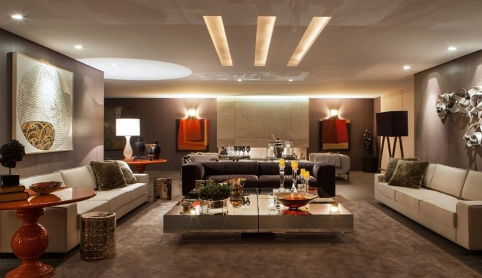 Iluminação de living sala de estar
