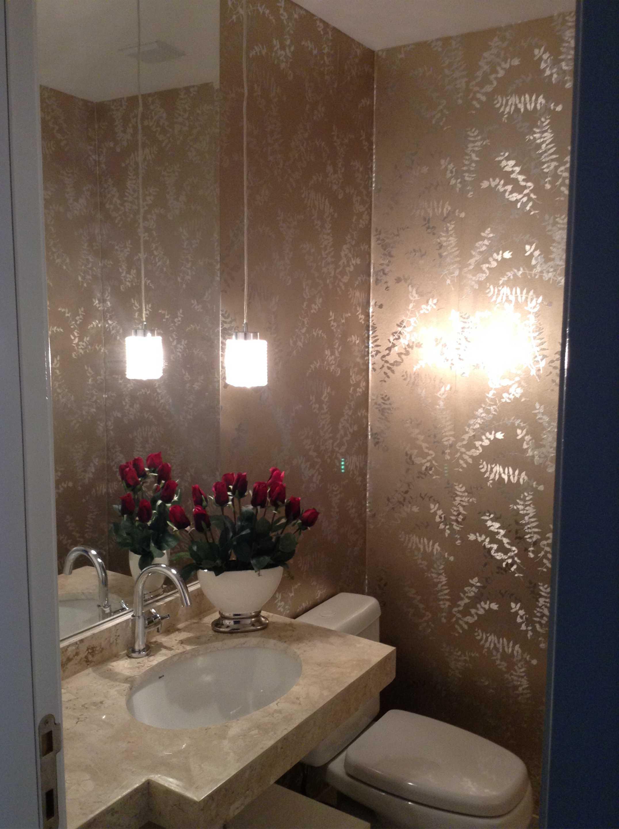 decoracao lavabo papel de parede:Ele hoje ocupa lugar de destaque  #9C682F 2152 2882