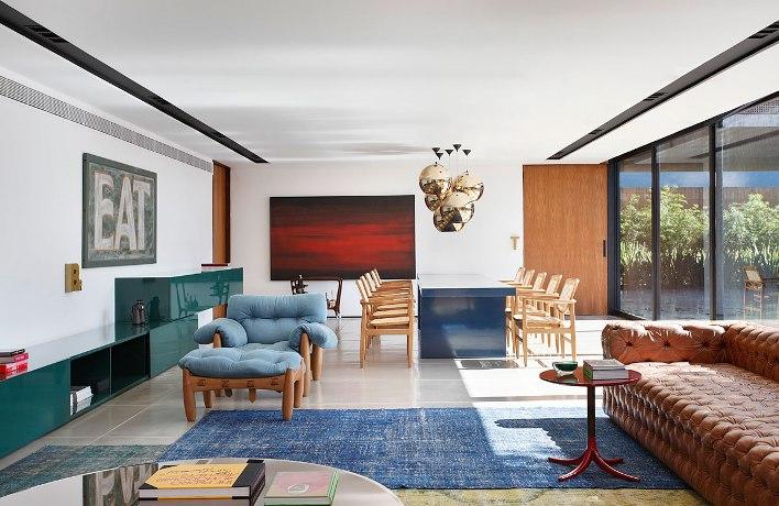 Projeto decoração com mobiliário Sergio Rodrigues - Guilherme Torres