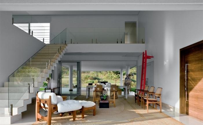 Sala de estar e jantar integrada linda