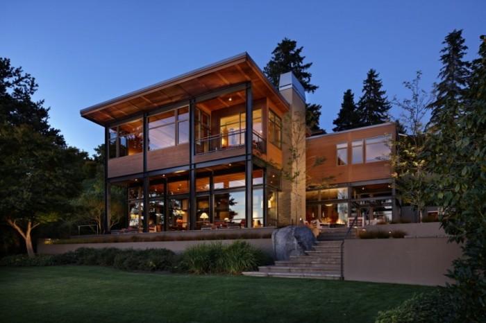 10 maravilhosas casas de frente para o lago for Industrial style house plans
