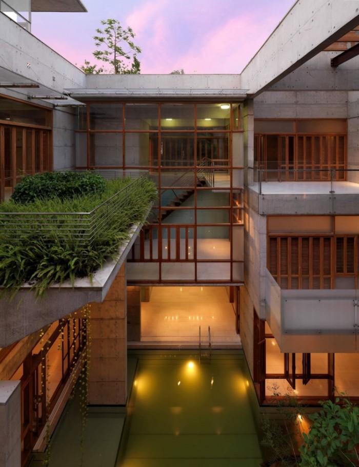 Casas modernas bonitas com piscina