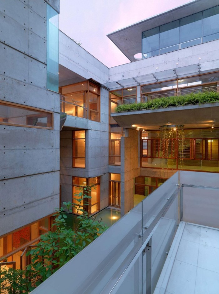 Casas modernas bonitas em concreto aparente