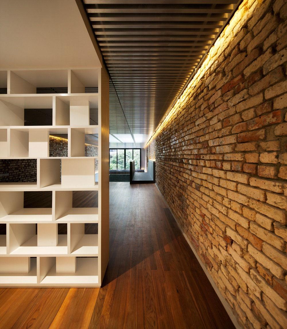 Iluminação paredes tijolo a vista 2