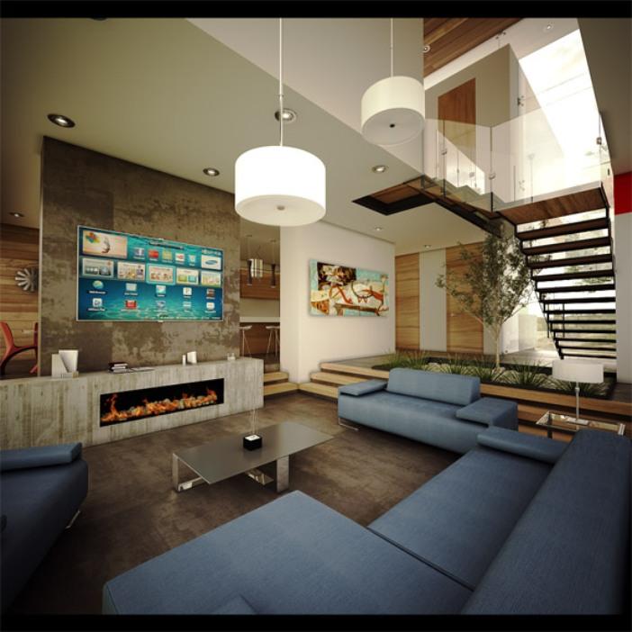 Linda casa contempor nea no m xico robles 04 - Casas modernas interior ...