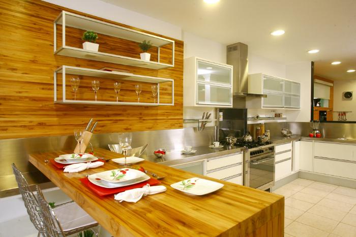 6 madeira revestindo a cozinha