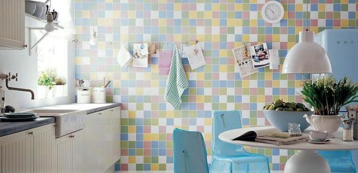Azulejos coloridos na cozinha