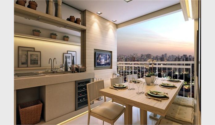 Varanda linda apartamento