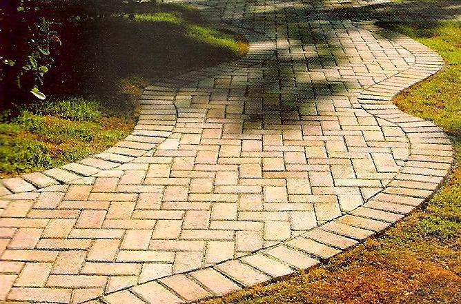 Calçada de bloco de concreto