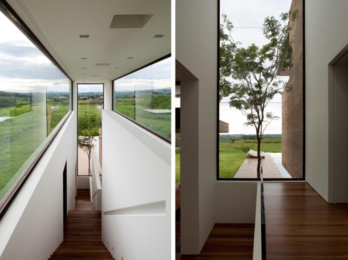 Circulação vertical e panos de vidro