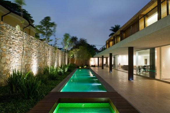 Revestimento externo para paredes de casa - parede em pedra