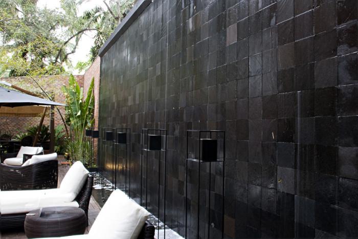 Revestimento externo para paredes - preto