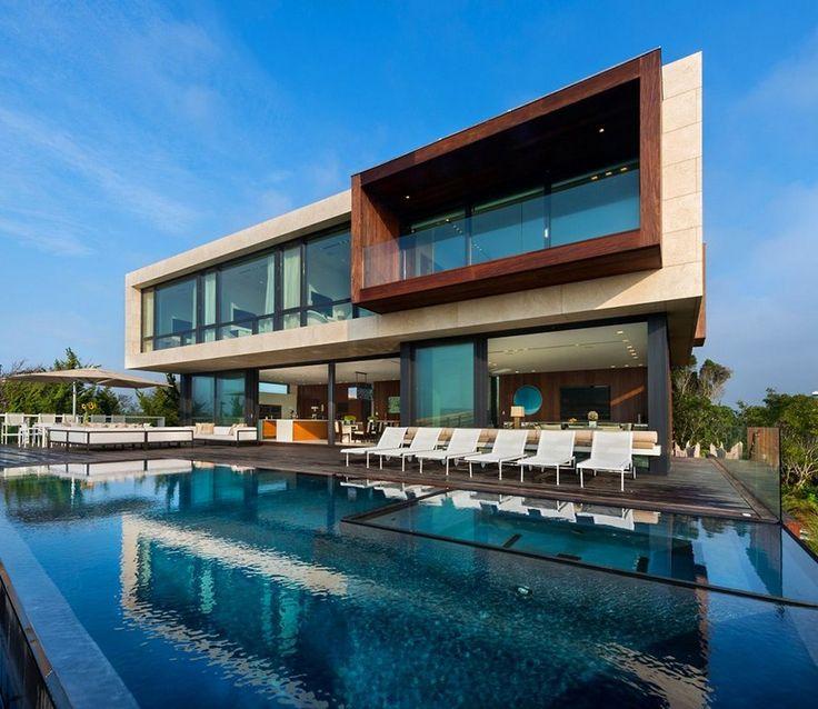 20 piscinas modernas bonitas e elegantes para resid ncias - Casas modernas con piscina ...