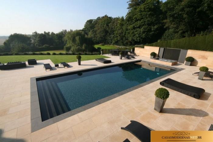 Wonderful Pool Finish Ideas For You To Copy: 20 Piscinas Modernas, Bonitas E Elegantes Para Residências