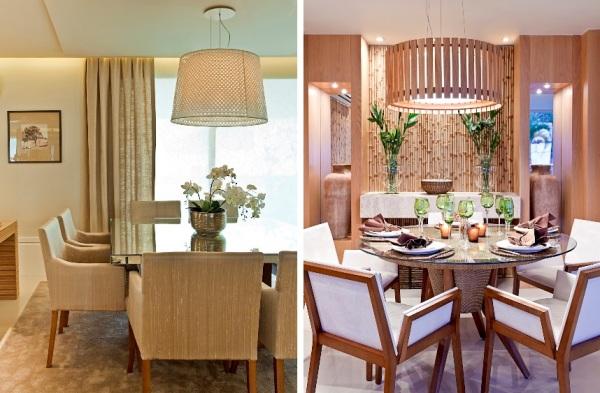 Copa De Sala De Jantar ~  discreta) e móveis de fibra natural Ao fundo, a mesa da copa