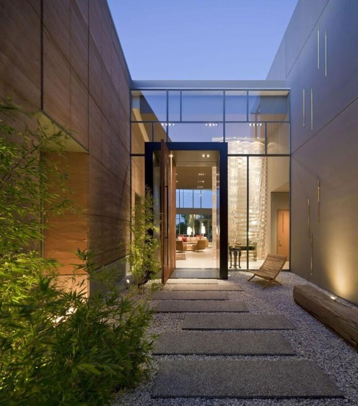entrada linda de vidro