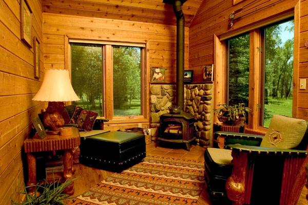 lareira casa de campo sala decoração