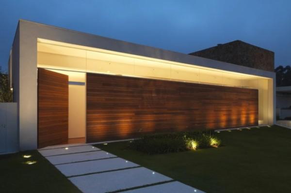 Fachadas de casa t rrea 15 modelos de modernas e bonitas for Como hacer una fachada de casa moderna