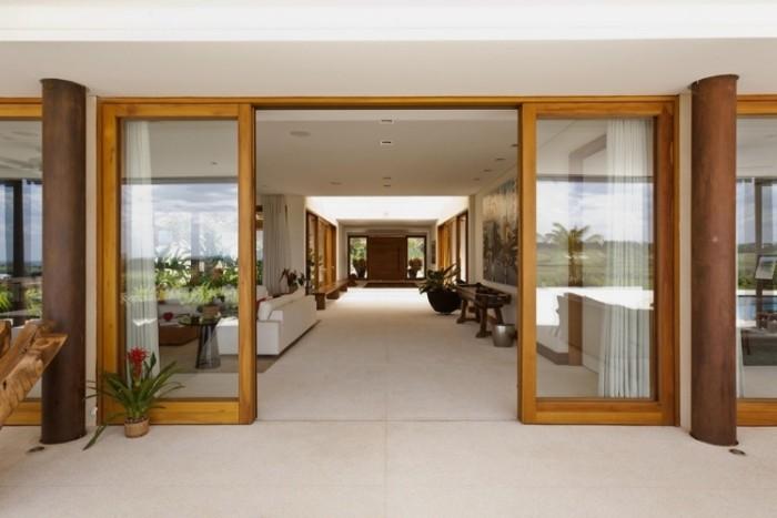 arquiteto casas rusticas de fazenda - porta e esquadrias em madeira