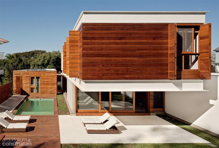 casa fachada madeira - arquiteto - casa e construção - indaiatuba