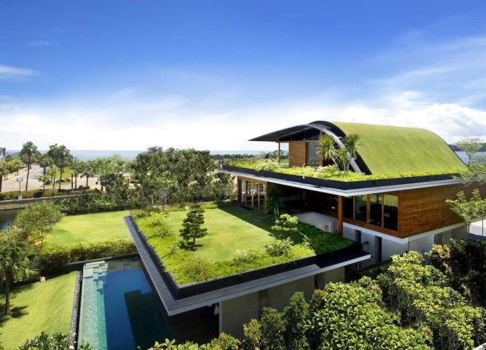 telhado verde teto jardim arquitetura