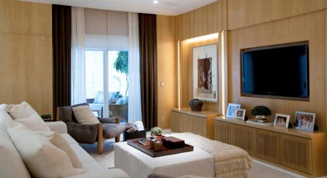 painel de tv bonito decoração sala