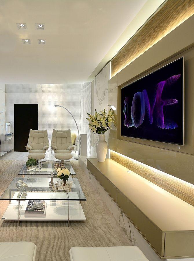 Ideias Para Sala De Tv ~ 10 Dicas e idéias de painel de TV para sala!