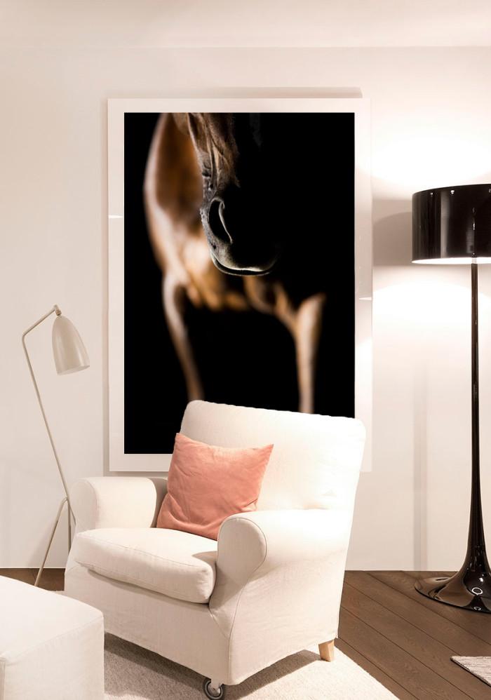 quadro de cavalo decoração rustica