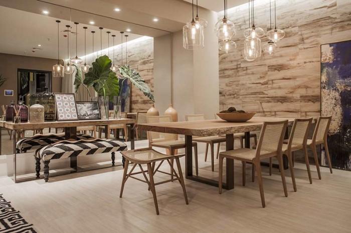 decoração sala de jantar cadeira de palha
