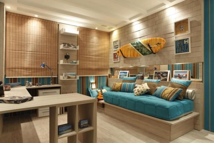 quarto para meninos surfista